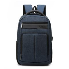 hot sale casual men's Multifunctional Bags backpack Pu soft leather bag blue