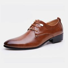 hot sales new Men Shoes Casual Leather Shoes men Formal shoe mens Formal shoes men brown size43 leather