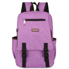 hot sale new men' Multifunctional Bags backpack Pu soft leather bag fashion men bag purple
