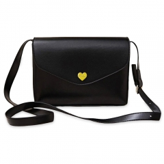 Fashion Red Women Mini Bag Vintage Female Handbags Romantic Heart Hasp Small Flap Candy Color black one size