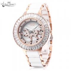 2016 PRINCESS BUTTERFLY Brand Women Quartz Watches Plated Classic Round Artificial Rhinestone silver