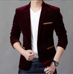 Personalized fashion Slim wild suit navy m