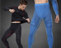 Men's seamless soft breathable comfortable breathable quick-drying running tight pants blue m