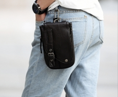 Fashion men 's pockets phone package black one size