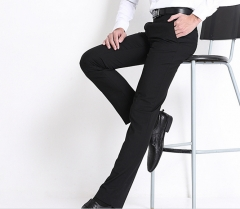 The new men 's business men' s trousers Slim Formal wear non - iron trousers men 's suit trousers black s