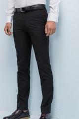 Men 's trousers Slim feet non - iron black men' s straight suit trousers custom suit pants black 29
