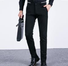 """Casual pants men """"s solid color pants men"""" s trousers trousers black 28"""