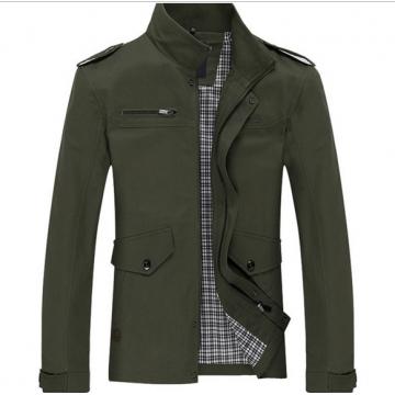 Men 's printing Slim business casual jacket Jeep men' s cotton washed windbreaker jacket armygreen xxxl