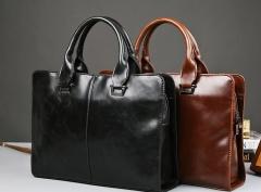 New fashion portable shoulder bag Messenger bag business package men bag black one size