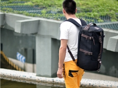Canvas British men backpack sports backpack outdoor travel backpack black one size