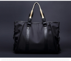 The new men 's business package bag handbag waterproof wear casual briefcase black one size