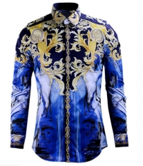 Royal Wind senior printing tide brand men 's shirts high - end men' s shirts as the picture m