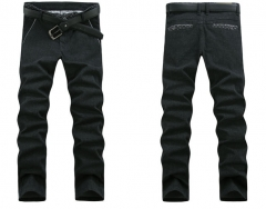 Men 's casual trousers Men' s straight Slim cotton casual trousers black 28