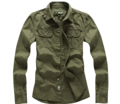 Cotton shirt Men 's Code Men' s British uniforms long - sleeved shirt tooling shirt armygreen xl