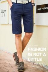 Summer Men 's casual pants men' s slim men 's cotton - heeled pants straight fashion elastic pants navy 28