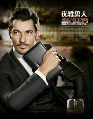 LEINASEN A80 WALLET Men hand bag leather handbag zipper hand baure  business man bag black one size