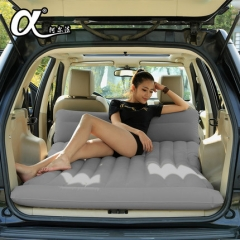 PVC car flocking inflatable mattress car shock bed car travel suv car rear driving as the picture