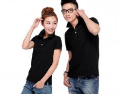 Cotton lapel staff  t-shirts polo overalls custom t - shirt cultural shirt printing logo custom black s