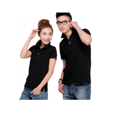 Cotton lapel staff  t-shirts polo overalls custom t - shirt cultural shirt printing logo custom black m
