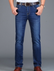 Men's jeans business straight men's Slim Stretch Fashion Jeans as the picture 28