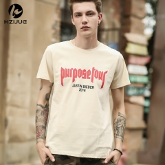 Summer new men's letter printed tide brand men's t-shirt cotton short-sleeved t-shirt as the picture s