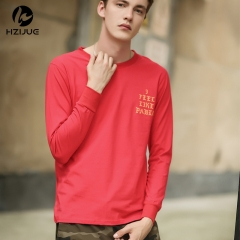 Men's Long Sleeve Creative Casual Long Sleeve Men's T-shirt red s