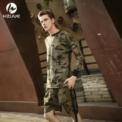 Summer new men's cotton camouflage long-sleeved T-shirt casual round neck men's t-shirt as the picture s