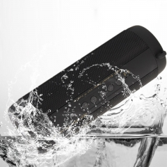 2016 Waterproof Speaker Portable Wireless Bluetooth Speakers Support FM Radio TF Card stereo Column black 7.5*2.7inch