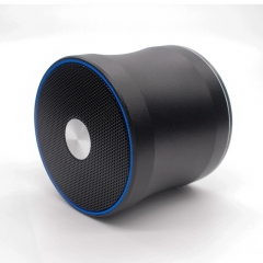 Mini Wireless  Portable Bluetooth Speakers Support TF card mp3 player 3.5mm AUX stereo loudspeakers black 71x71x63mm