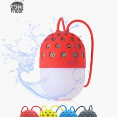 Portable Firefly LED Speaker Wireless  Bluetooth  Stereo Music  for Phone Computer Hands-free Calls red 8cm*5cm