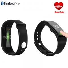 Bluetooth Smartwatch Heart Rate Smart  Wristband Bracelet Activity Tracker Fitness for IOS Android black 4.8CM*2.4CM*1.2CM