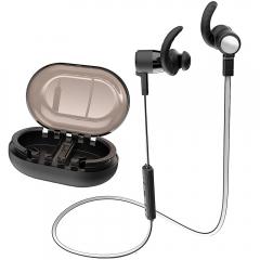 Bluetooth Headphones Sports Wireless Earbuds Apt-X HD Stereo Earphones for Sports Running  Mic/IPX7 black