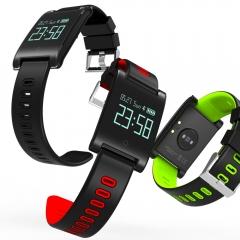 Bluetooth Smartwatch Wristband Blood Pressure Heart Rate Monitor Fitness Bracelet Activity Tracker black 33m*1.15cmm*26cm