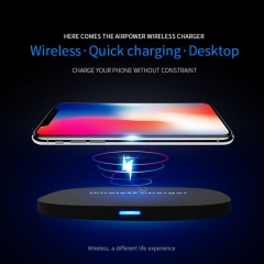 10W Qi Wireless Charger for Samsung Galaxy S8+/S8 for ipone X/iphone 8 and more Smart phone white 100mm*100mm*7.5mm