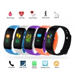 Bluetooth Smart Wristbands Smart watch Heart Rate Monitor Fitness Tracker Sports Bracelet black 4.8cm*2.4cm*1.2cm