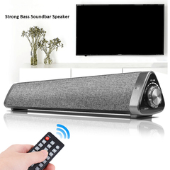 2*5W Mini Bluetooth Speaker Soundbar, Wired and Wireless Home Theater Audio for Cell Phone/Tablet/TV graw 45cm*10cm*10cm