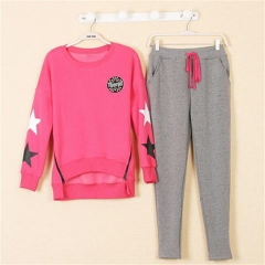 Fashion casual wear loose casual sportswear rose red xl
