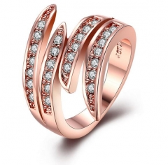 18K rose gold woman rings, silver jewelry rose gold 6