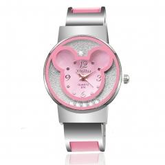 new fashion watch creative ladies bracelet watch high-grade female models watches pink