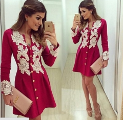 Lowest price limited -red lace dresses red l