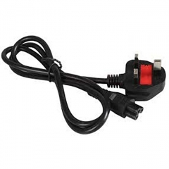 Generic Universal Power Cable 1.5 meters -Flower Cable - Black Black -