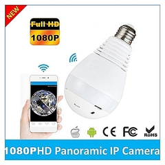 1080P LED Bulb Cam White Light 360 Degree WiFi Wireless P2P white one size
