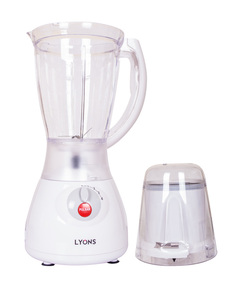 Lyon White 2 in 1 Blender with Grinding Machine 1.5Litres white