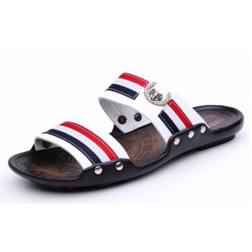 Summer men sandals casual beach fashion sandals white 44