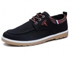 The new leisure men 's shoes canvas shoes men' s daily men 's casual shoes black 42