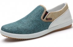 The new flax breathable shoes, a pedal fashion casual shoes lazy Peas shoes green 42