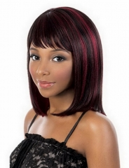 Synthetic Wigs Short Blonde Wig Cosplay Sexy Straight Afro Wigs black&red short hair