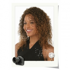 Afro Wigs for Black Women Kinky Curly Synthetic Wigs Medium-long Synthetic Wig as picture medium