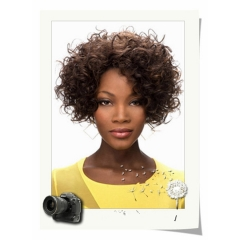 Synthetic Kinky Afro Wigs for Black Women Long Kinky Curly Black Hair Wig as picture short hair