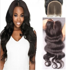8a Peruvian Natural Human Hair From Young Girl,100% Virgin Remy Body Wave Hair Lace Closures 12inch